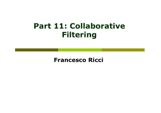 Part 11: Collaborative Filtering