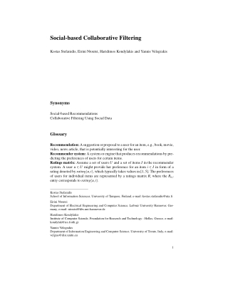 Social-based Collaborative Filtering