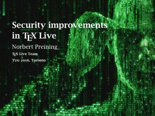 Security improvements in TEX Live