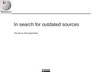In search for outdated sources