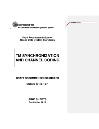 TM SYNCHRONIZATION AND CHANNEL CODING