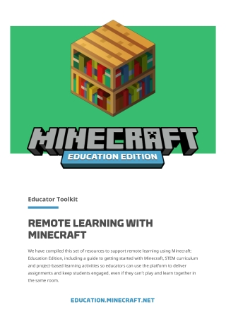 REMOTE LEARNING WITH MINECRAFT