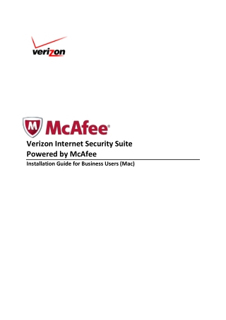Verizon Internet Security Suite Powered by McAfee