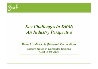 Key Challenges in DRM: An Industry Perspective