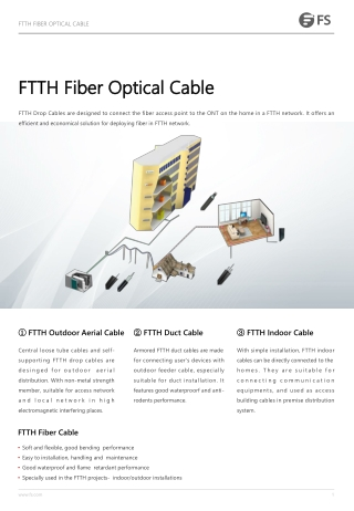 FTTH Fiber Optical Cable FTTH Fiber Optical Cable