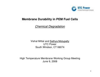 Membrane Durability in PEM Fuel Cells