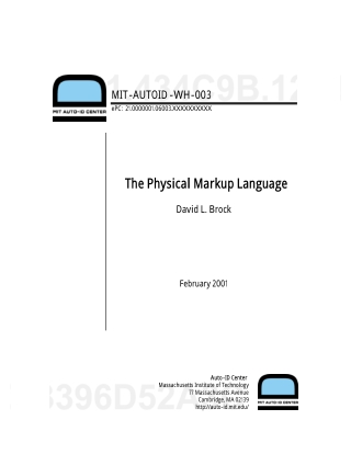 The Physical Markup Language