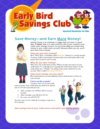 Save Money—and Earn More Money!