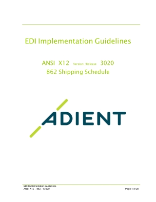 EDI Implementation Guidelines