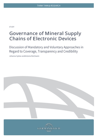 Governance of Mineral Supply Chains of Electronic Devices