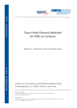 Trace Finite Element Methods for PDEs on Surfaces