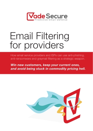 Email Filtering for providers