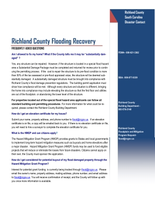 Richland County Flooding Recovery