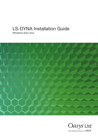 LS-DYNA Installation Guide
