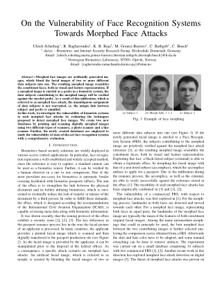 On the Vulnerability of Face Recognition Systems Towards Morphed Face Attacks