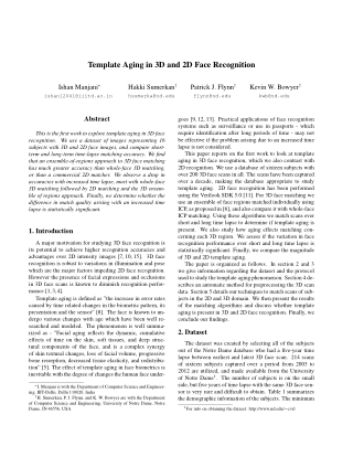 Template Aging in 3D and 2D Face Recognition