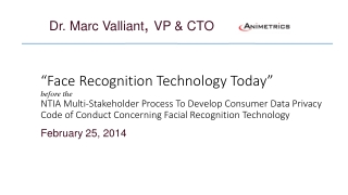 """Face Recognition Technology Today"""