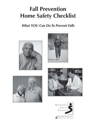 Fall Prevention Home Safety Checklist