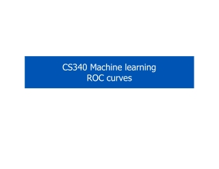 CS340 Machine learning ROC curves