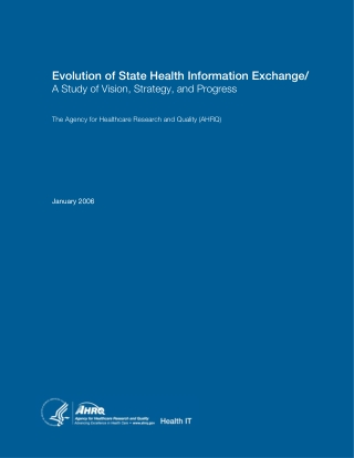 Evolution of State Health Information Exchange/
