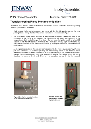 Troubleshooting Flame Photometer ignition