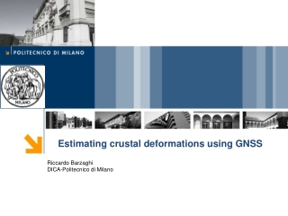 Estimating crustal deformations using GNSS