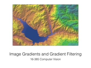 Image Gradients and Gradient Filtering