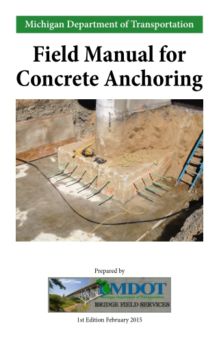Field Manual for Concrete Anchoring