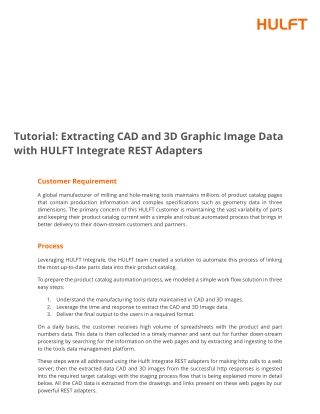Tutorial: Extracting CAD and 3D Graphic Image Data with HULFT Integrate REST Adapters