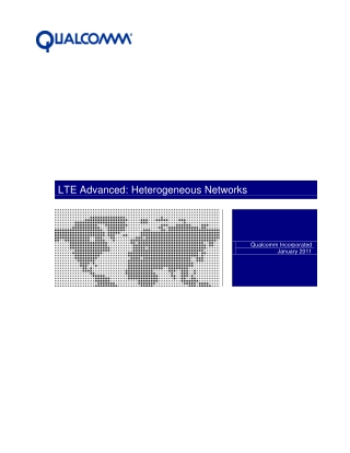 LTE Advanced: Heterogeneous Networks