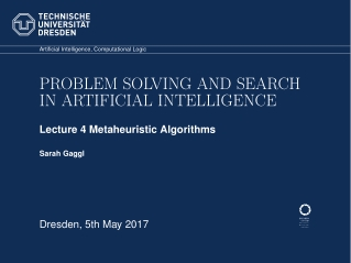 PROBLEM SOLVING AND SEARCH IN ARTIFICIAL INTELLIGENCE
