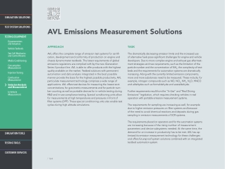 AVL Emissions Measurement Solutions