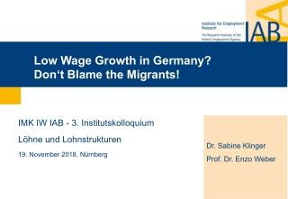 Low Wage Growth in Germany?