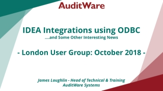 IDEA Integrations using ODBC