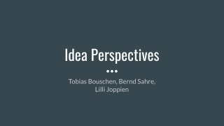 Idea Perspectives