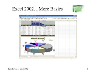 Exceed expectations 2002… More Nuts and bolts