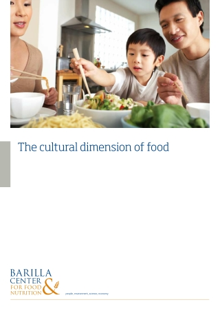 The cultural dimension of food