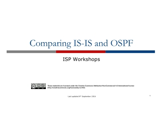 Comparing IS-IS and OSPF