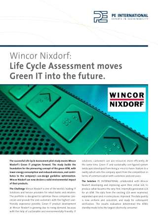 Life Cycle Assessment moves Green IT into the future.