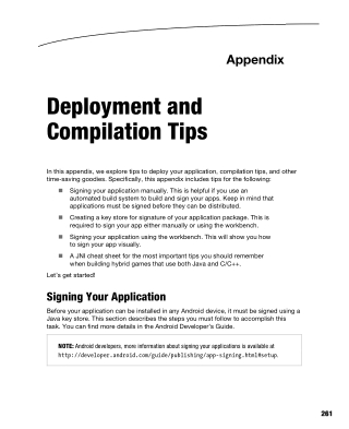 Deployment and Compilation Tips