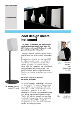 cool design meets hot sound