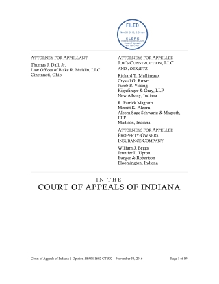COURT OF APPEALS OF INDIANA