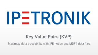 Key-Value Pairs (KVP)