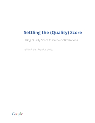 Settling the (Quality) Score