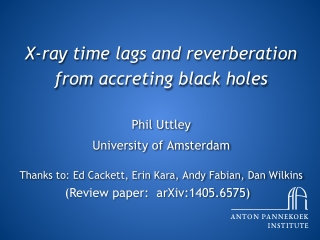 X-ray time lags and reverberation from accreting black holes