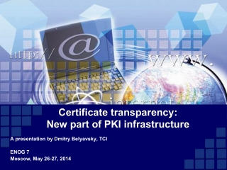 Certificate transparency: New part of PKI infrastructure