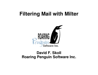 Filtering Mail with Milter