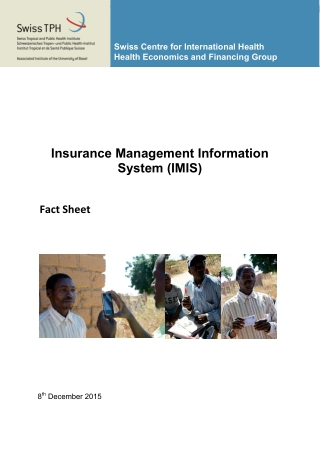 Insurance Management Information System (IMIS)
