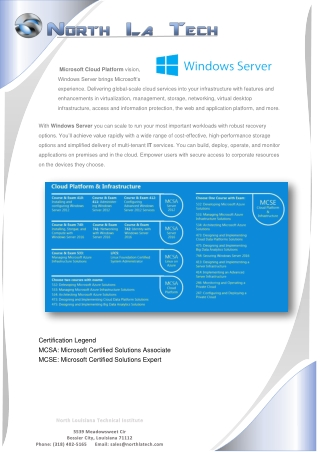 Certification Legend MCSA: Microsoft Certified Solutions Associate MCSE: Microsoft Certified Solutions Expert