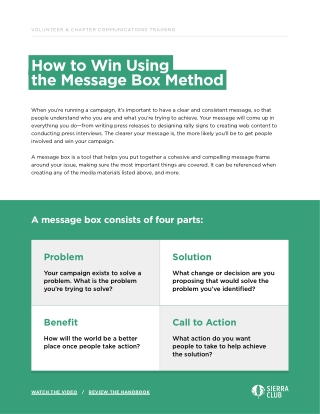 How to Win Using the Message Box Method